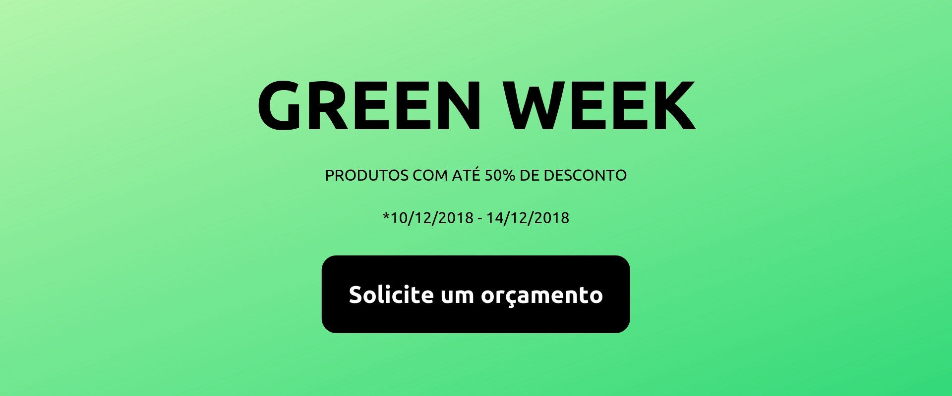 AuE Green Week - Semana de descontos