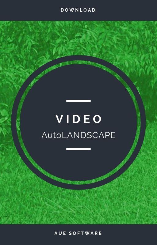 Proyecto de paisajismo con el software AuE AutoLANDSCAPE